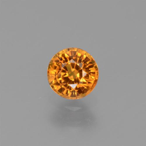 Yellow Sapphire Gem - 0.6ct Round Facet (ID: 453025)