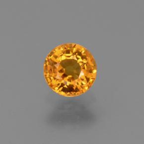 Yellow Sapphire Gem - 0.7ct Round Facet (ID: 453086)