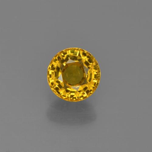 Yellow Sapphire Gem - 0.7ct Round Facet (ID: 453099)
