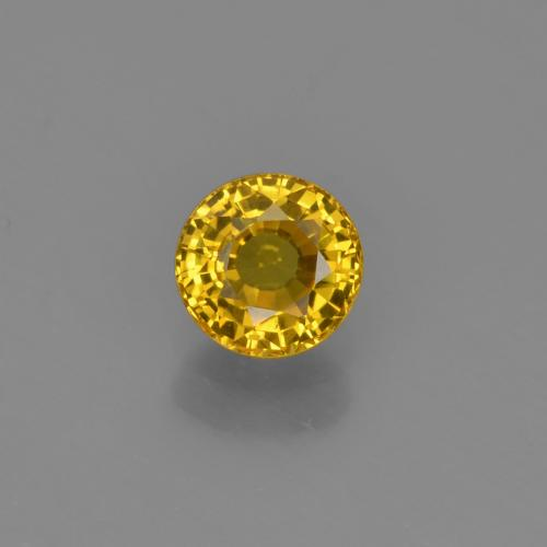 Yellow Sapphire Gem - 0.6ct Round Facet (ID: 453104)