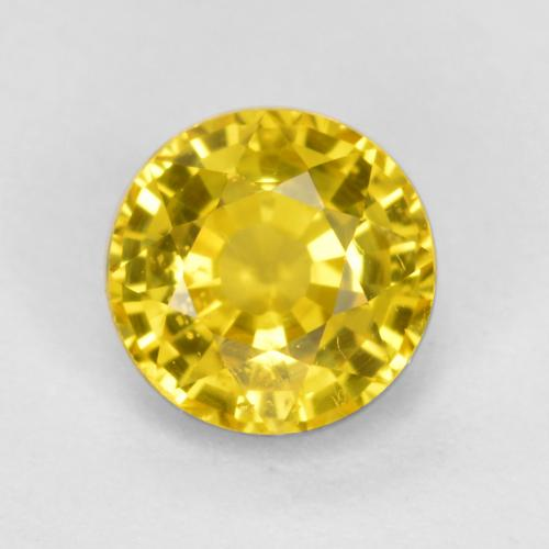 Golden Yellow Sapphire Gem - 0.7ct Round Facet (ID: 453109)