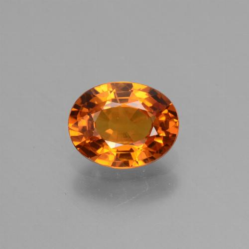 Yellow Orange Sapphire Gem - 1.6ct Oval Facet (ID: 453111)