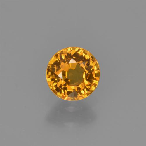 Apricot Orange Zafiro Gema - 0.6ct Faceta Redonda (ID: 453138)