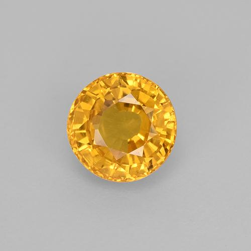 Yellow Sapphire Gem - 0.7ct Round Facet (ID: 453172)