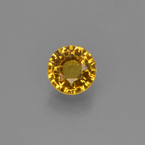 0.55 ct Round Facet Yellow Golden Sapphire Gemstone 4.90 mm  (Product ID: 453176)