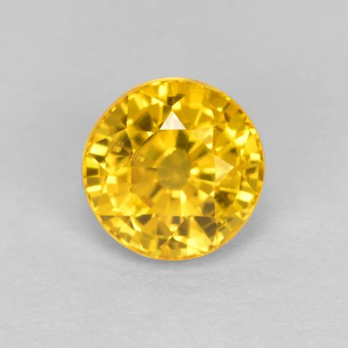 Golden Yellow Sapphire Gem - 0.7ct Round Facet (ID: 453178)