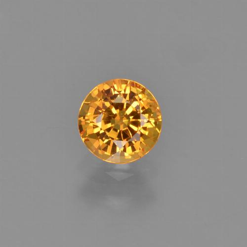 Intense Orange Sapphire Gem - 0.7ct Round Facet (ID: 453179)