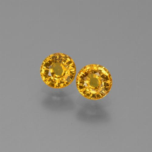 Yellow Sapphire Gem - 0.6ct Round Facet (ID: 453191)