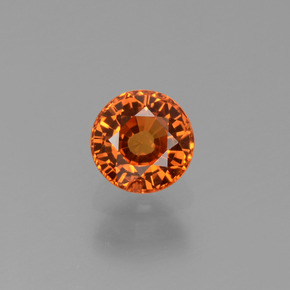 Yellow Orange Sapphire Gem - 0.7ct Round Facet (ID: 453210)