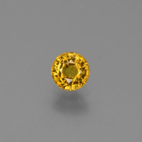 0.7ct Round Facet Medium Golden Sapphire Gem (ID: 453234)