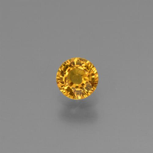Yellow Golden Sapphire Gem - 0.6ct Round Facet (ID: 453239)