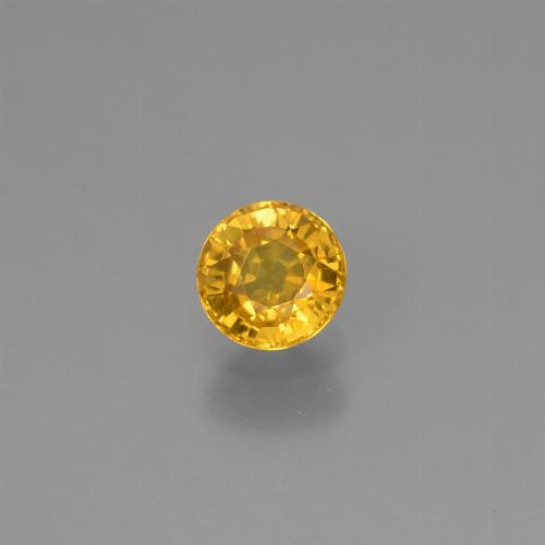Yellow Sapphire Gem - 0.6ct Round Facet (ID: 453242)