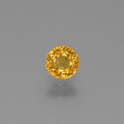 Dark Golden Zafiro Gema - 0.6ct Faceta Redonda (ID: 453248)