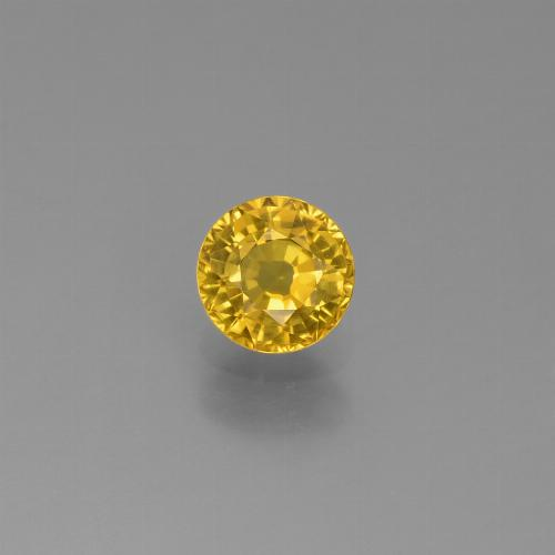 Yellow Sapphire Gem - 0.7ct Round Facet (ID: 453252)