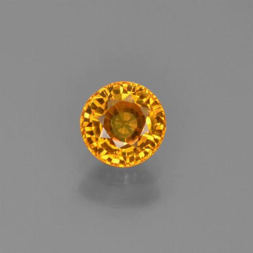 Yellow Golden Sapphire Gem - 0.7ct Round Facet (ID: 453269)