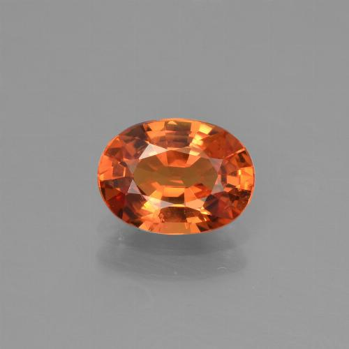 Orange Sapphire Gem - 1.5ct Oval Facet (ID: 453279)