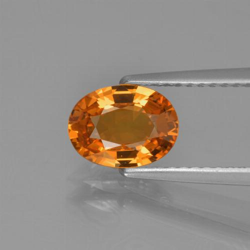 Yellow Golden Sapphire Gem - 1.3ct Oval Facet (ID: 453286)