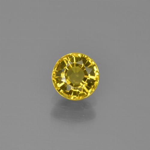 Yellow Sapphire Gem - 0.7ct Round Facet (ID: 453307)