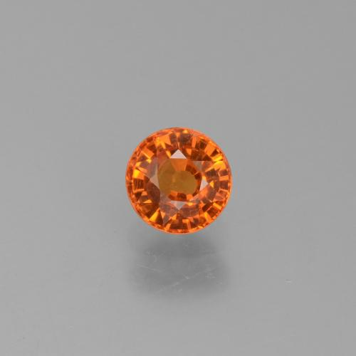 Yellow Orange Sapphire Gem - 0.8ct Round Facet (ID: 453353)