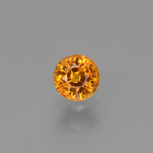0.8ct Round Facet Yellow Orange Sapphire Gem (ID: 453356)