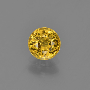 Deep Yellow Zafiro Gema - 0.8ct Faceta Redonda (ID: 453380)
