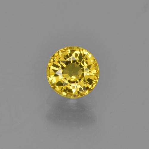 Yellow Sapphire Gem - 0.7ct Round Facet (ID: 453384)