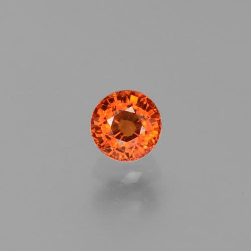 Orange Sapphire Gem - 0.8ct Round Facet (ID: 453408)