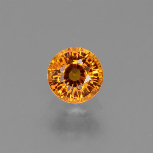 Yellow Golden Sapphire Gem - 0.6ct Round Facet (ID: 453424)