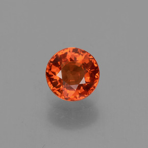 Fire Orange Zafiro Gema - 0.6ct Faceta Redonda (ID: 453431)