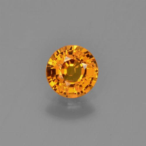 Yellow Golden Sapphire Gem - 0.7ct Round Facet (ID: 453442)