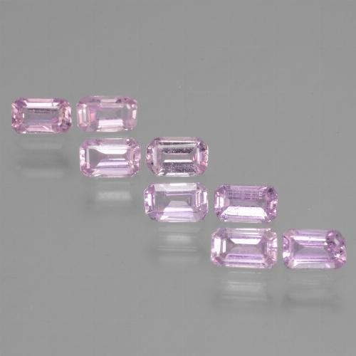 Light Pinkish Violet Purple Zafiro Gema - 0.4ct Corte octagonal (ID: 453698)