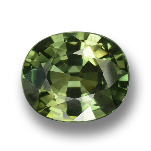 Green Sapphire Gem - 4.5ct Oval Facet (ID: 458367)