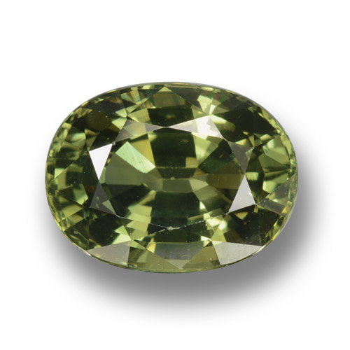 Medium-Dark Green Zafiro Gema - 4.1ct Forma ovalada (ID: 458368)