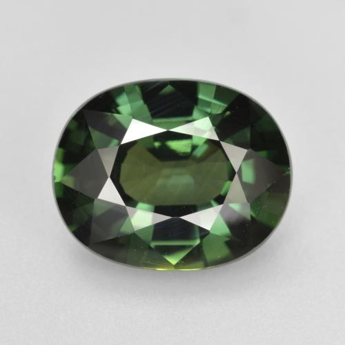 Green Sapphire Gem - 4.7ct Oval Facet (ID: 458374)