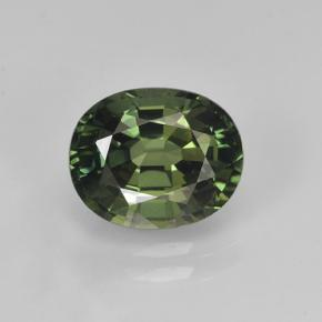 2.3ct Oval Facet Green Sapphire Gem (ID: 458448)
