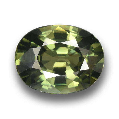 Green Sapphire Gem - 3.4ct Oval Facet (ID: 458450)