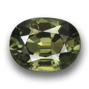 Green Sapphire Gem - 3.1ct Oval Facet (ID: 458453)