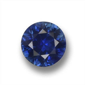 Blue Sapphire Gem - 0.5ct Diamond-Cut (ID: 458791)