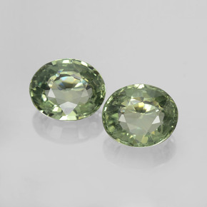 Green Sapphire Gem - 0.8ct Oval Facet (ID: 459807)