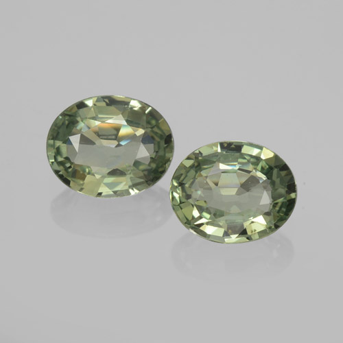 Earthy Green Sapphire Gem - 0.7ct Oval Facet (ID: 459817)