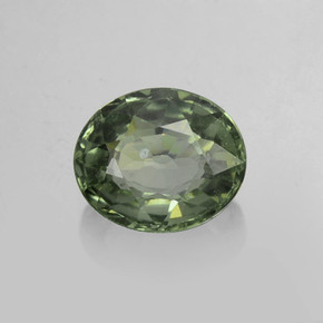 0.9ct Oval Facet Green Sapphire Gem (ID: 459893)