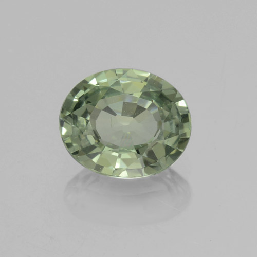 thumb image of 0.7ct Oval Facet Green Sapphire (ID: 460016)