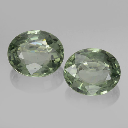 Medium Light Green Zafiro Gema - 0.8ct Forma ovalada (ID: 460089)