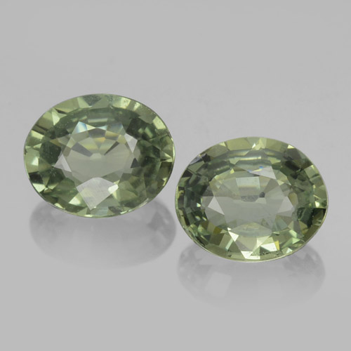 Earthy Green Sapphire Gem - 0.7ct Oval Facet (ID: 460093)