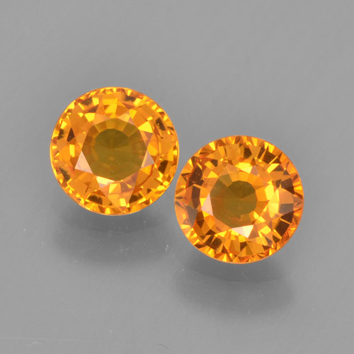0.6ct Round Facet Yellow Orange Sapphire Gem (ID: 460609)