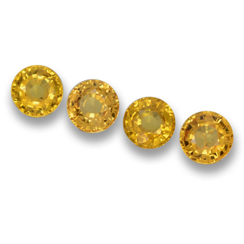 Yellow Sapphire Gem - 0.6ct Round Facet (ID: 460666)