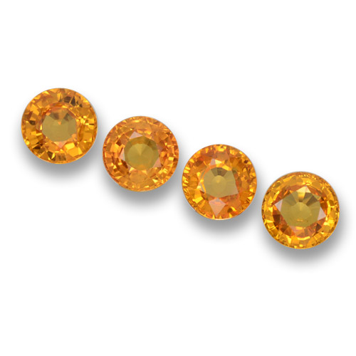 Yellow Golden Sapphire Gem - 0.6ct Round Facet (ID: 460672)
