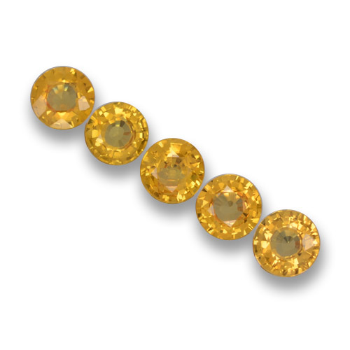 Yellow Sapphire Gem - 0.5ct Round Facet (ID: 460800)