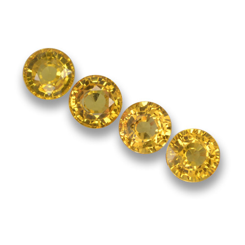 Yellow Sapphire Gem - 0.6ct Round Facet (ID: 460801)