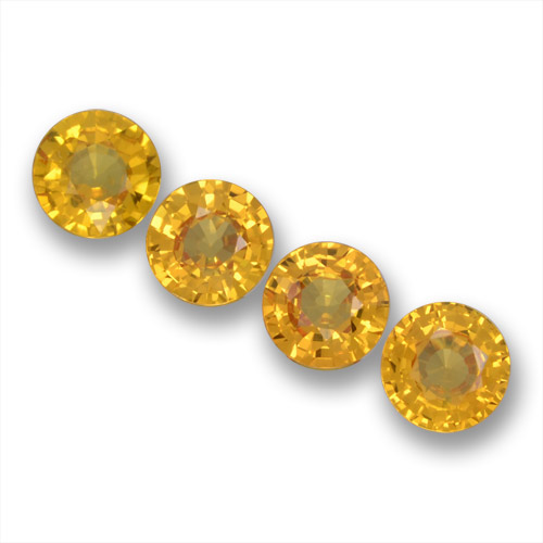 Yellow Sapphire Gem - 0.6ct Round Facet (ID: 460854)